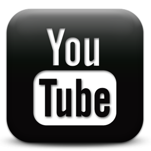 white youtube icon